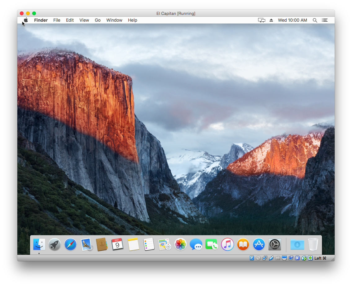 OS X El Capitan on VirtualBox